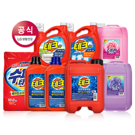 [무료배송] 테크 대용량 액체세제 8L