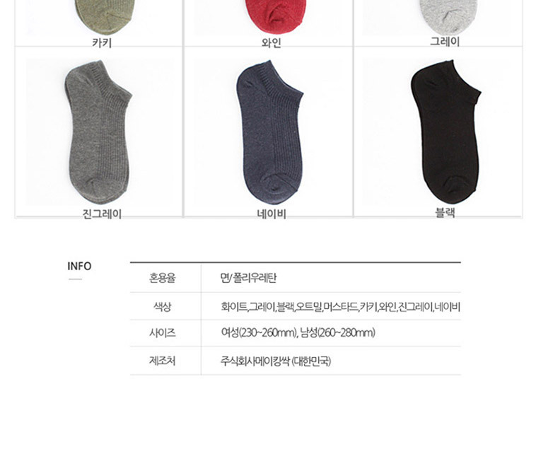 [명예의전당] 덧신 10족 패션양말 - 상세정보