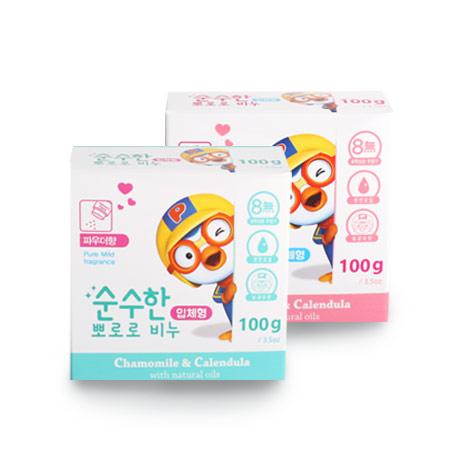 [무배] 유아 어린이 뽀로로비누 4개