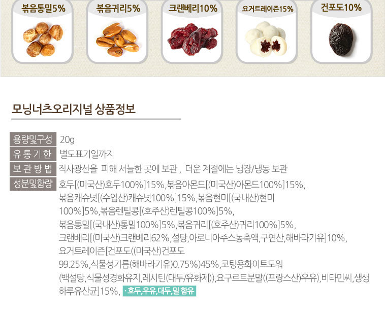 [스타쿠폰] 1+1 하루견과류 30봉세트 - 상세정보