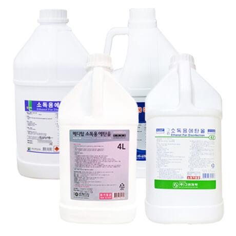 [무료배송] 소독용 에탄올 4L