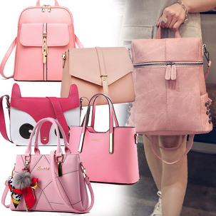 [마이컬러] 핑크 여성가방/토드백