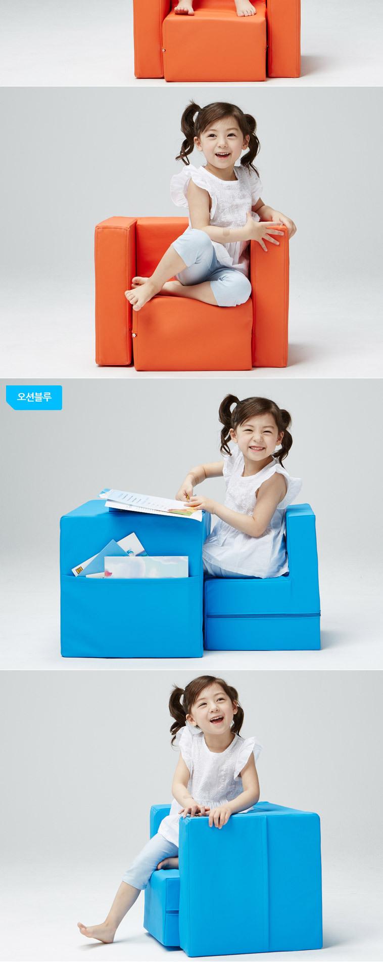 [마이컬러] 그린 유아책상소파 - 상세정보