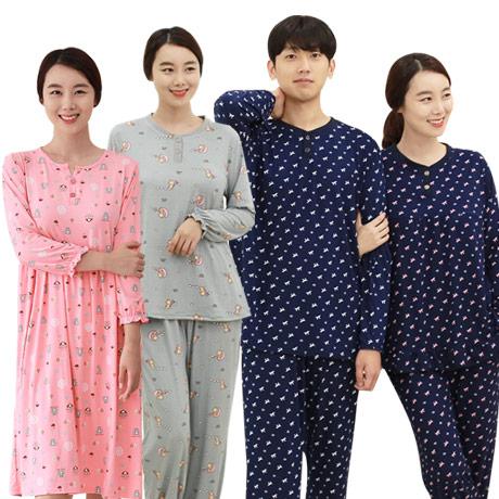 [무료배송] 커플잠옷파자마 피치기모