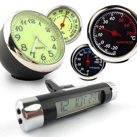 [무료배송] 차량용 시계/온도계/습도