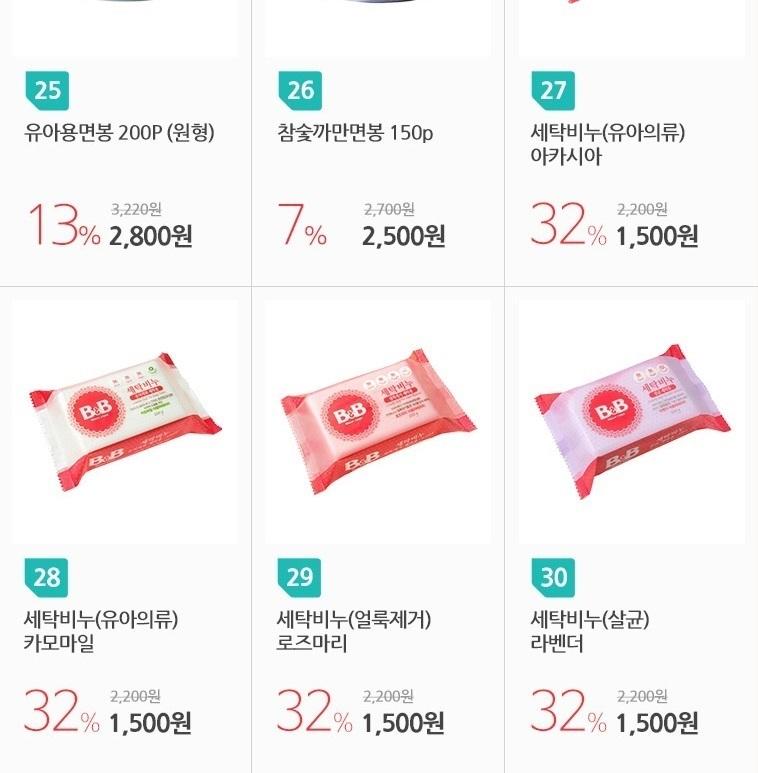 비앤비 유아세제 유연제 - 상세정보