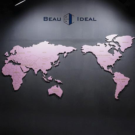 [보아이디얼] 세계지도 벽장식