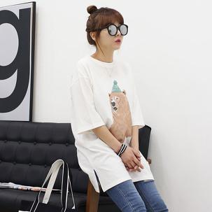 [마이사이즈] 여성 110 티셔츠
