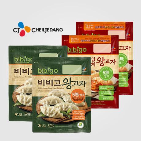 CJ 비비고 만두 김치2봉 + 왕교자2봉