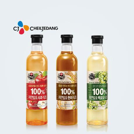 백설 100%자연발효한 식초3종 x3개