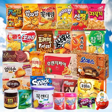 411종 최신 인기과자 마트 총출동