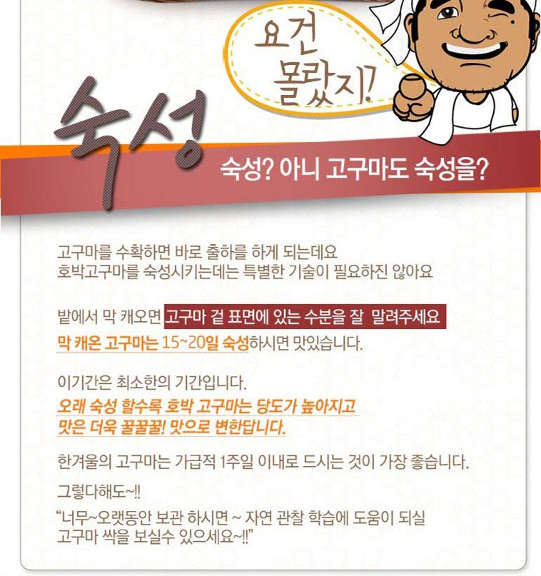 [봉팔형님] 달콤한 꿀/호박 고구마 - 상세정보