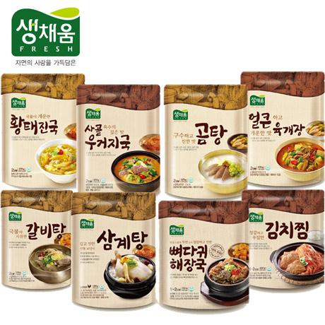 생채움 탕/국/찌개/찜 8종 골라담기