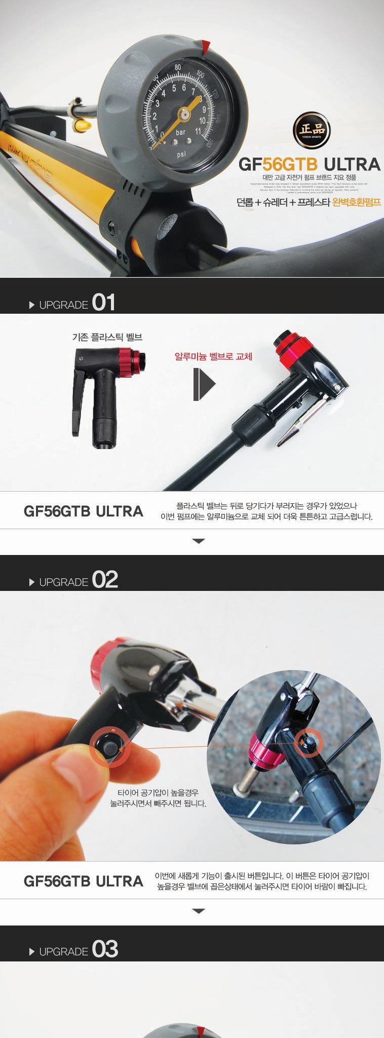 지요 GF-56GTB 울트라 자전거펌프 - 상세정보