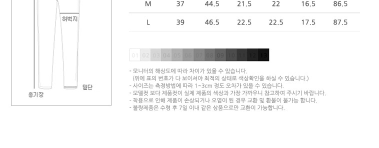 [스타쿠폰] 쫀득한 NEW 팬츠/청바지 - 상세정보