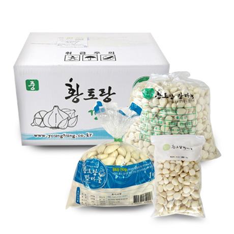 [무료배송] 황토랑 깐마늘 400g/1kg