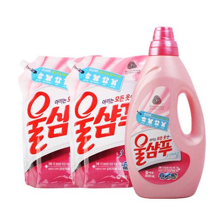 울샴푸 용기+리필×4개(퍼퓸/울터치)