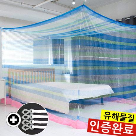 사각 모기장 침대 캐노피 방충망
