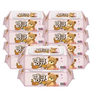 [원더배송] 땡큐 물티슈 100매 10팩