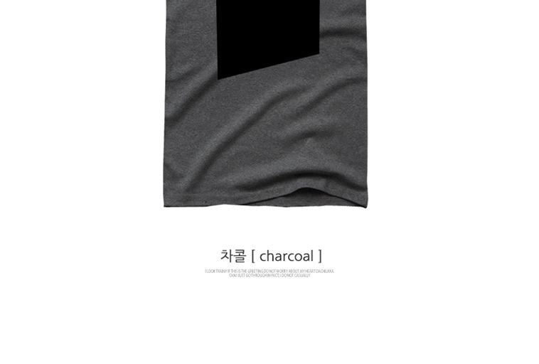 [마이컬러] 그레이 남성 반팔티셔츠 - 상세정보