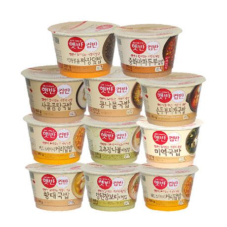 CJ 햇반 컵반 컵밥 국밥 14종