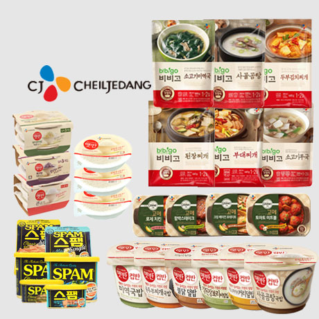 CJ 컵반/컵밥/스팸/햇반/비비고