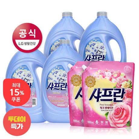[투데이특가] 샤프란 섬유유연제 4+2