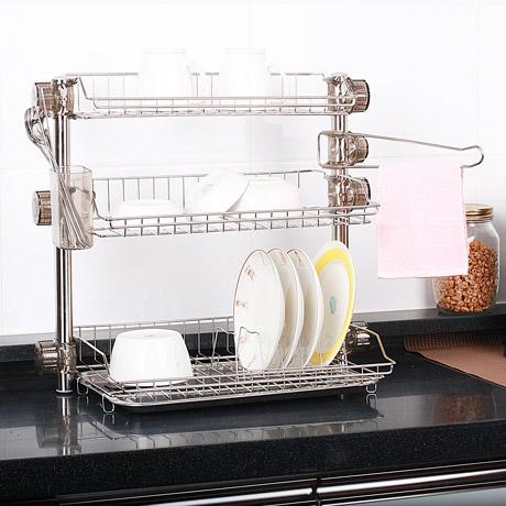 실용적인 식기건조대&주방선반 모음
