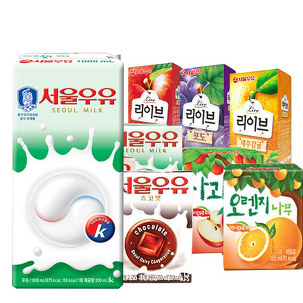 [원더배송] 서울 멸균우유 1L X 10