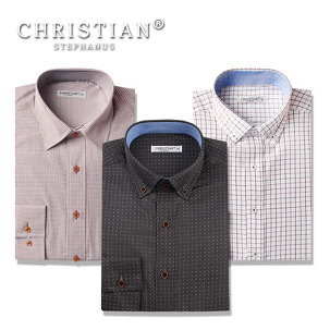 [마이컬러] 브라운 남성 슬림핏 셔츠