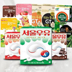 서울 멸균우유 200ml x 24팩