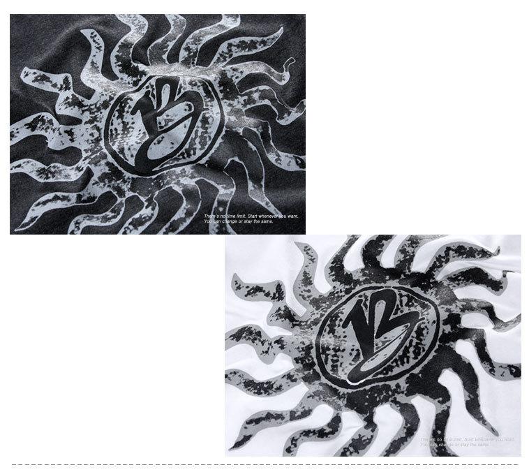 [마이컬러] 블랙 프린트 긴팔티 - 상세정보