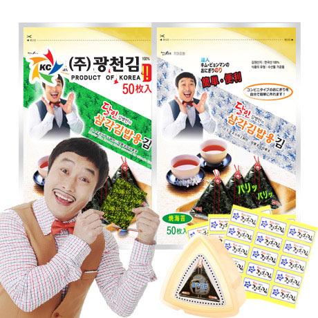 달인김병만! 삼각김밥김 50매+삼각틀