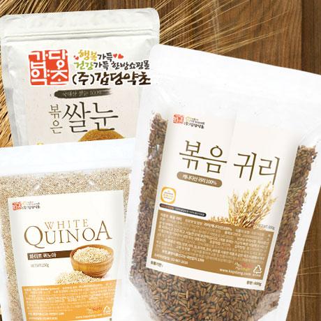 볶은 귀리 가루/현미 쌀눈/퀴노아
