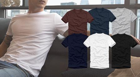 코마사 무지 기본 반팔 티셔츠/세트