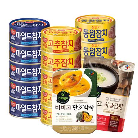 동원 참치캔 특가/스팸/비비고/죽