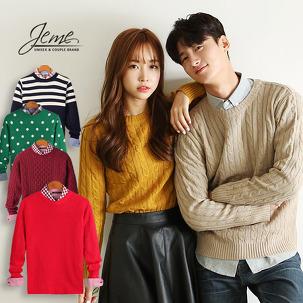 따뜻한 니트/스웨터/폴라