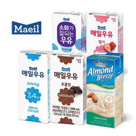 매일우유 멸균우유모음 200ml 24팩