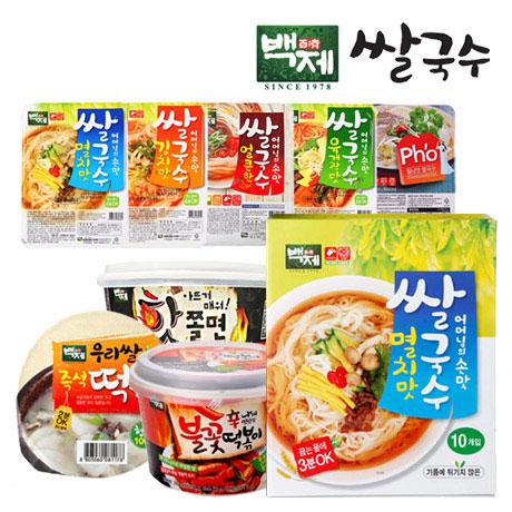 백제식품 멸치맛쌀국수30개