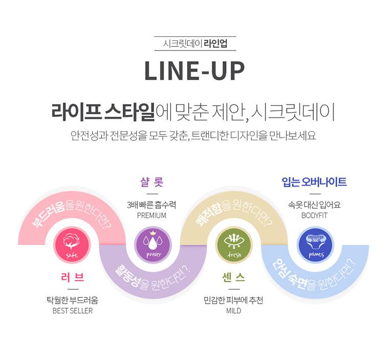 [무료배송] 시크릿데이 생리대 샬롯  - 상세정보