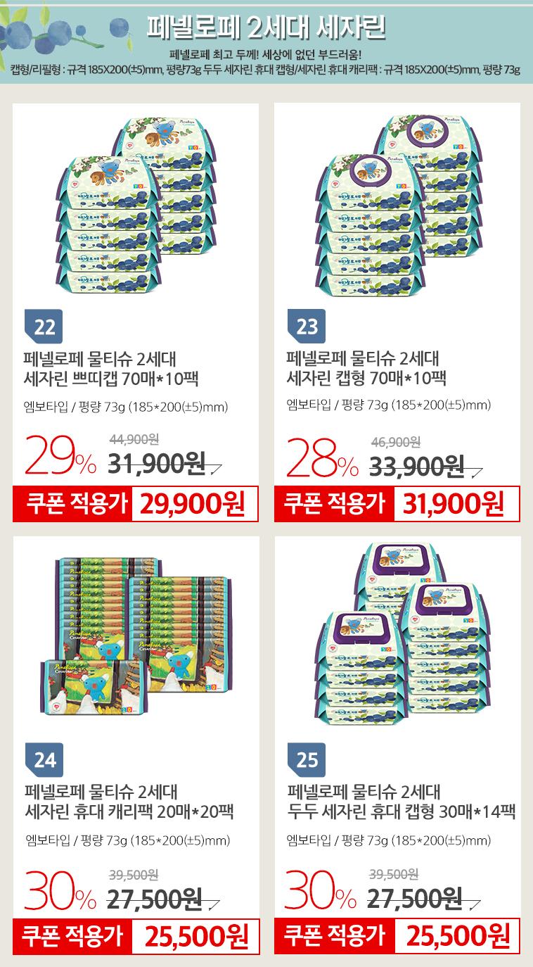 페넬로페 바이탈 아기물티슈  - 상세정보