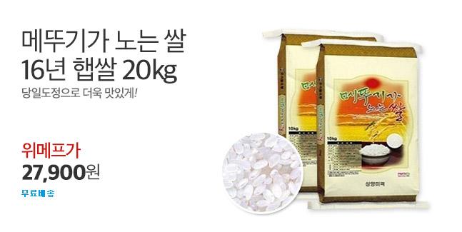 16년햅쌀 메뚜기가 노는 쌀20kg 특가