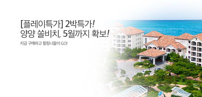 [플레이특가] 양양쏠비치2박, ~5월!_best banner_0_리조트/콘도_/deal/adeal/1855922