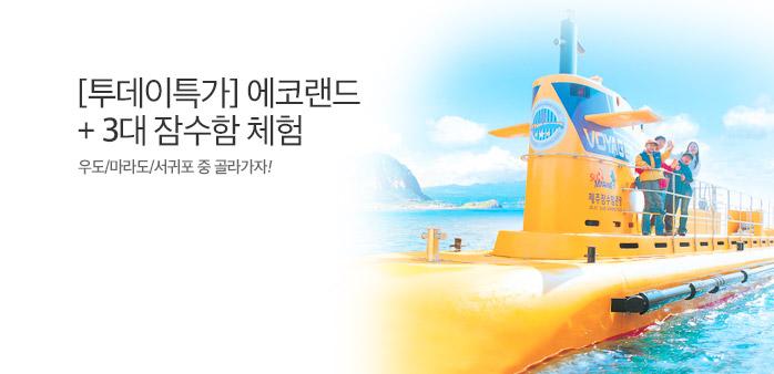 [투데이특가] 제주 에코랜드+잠수함 _best banner_0_제주도여행_/deal/adeal/1874324